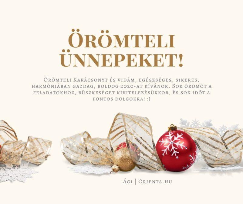 Karácsonyi és 2020-as jókívánság | Orienta.hu